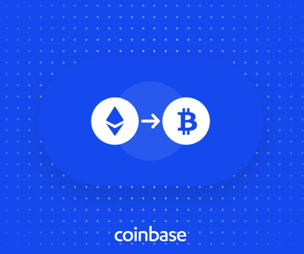 Coinbase acepta conversiones